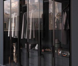 гардеробная стекляные двери фото