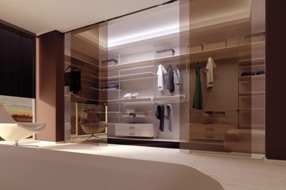 гардеробная комната в спальне фото