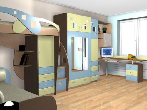 корпусная мебель для детской комнаты на заказ фото