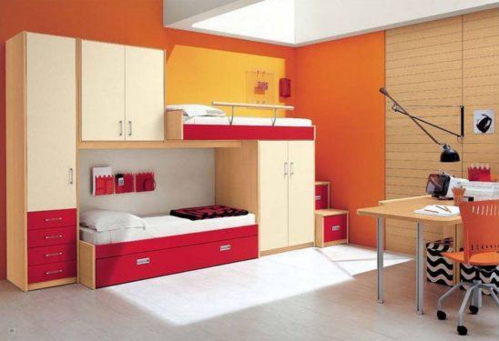 красная детская мебель фото
