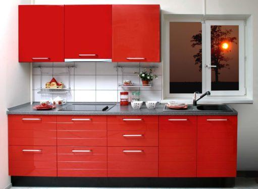 красная кухня фото дизайн 2017