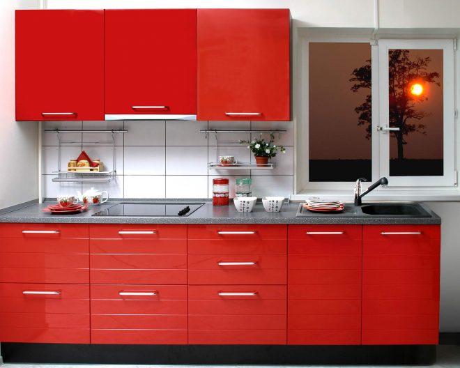 Красная кухня Modern заказ № 54