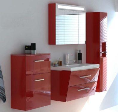 красная мебель для ванной фото