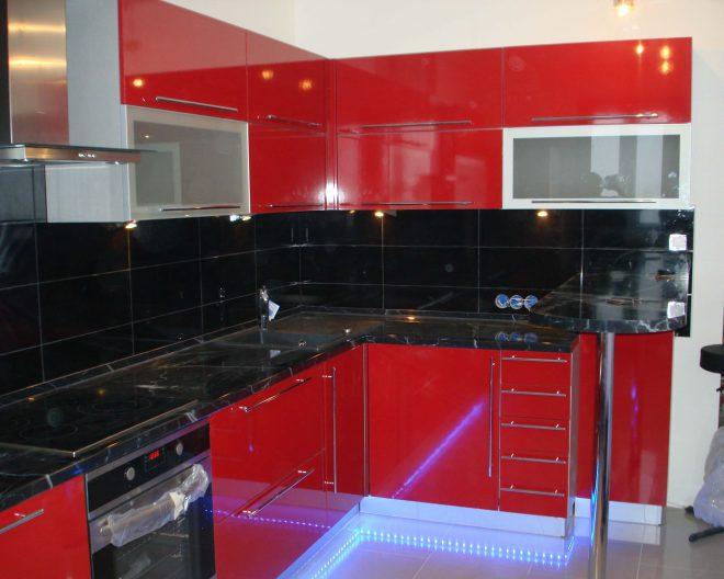 Красно черная кухня Enigma заказ № 79