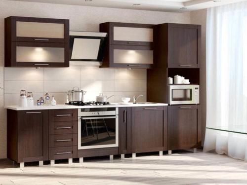 кухонный интерьер со встроенной техникой фото