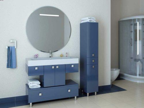 синяя мебель в ванную комнату фото
