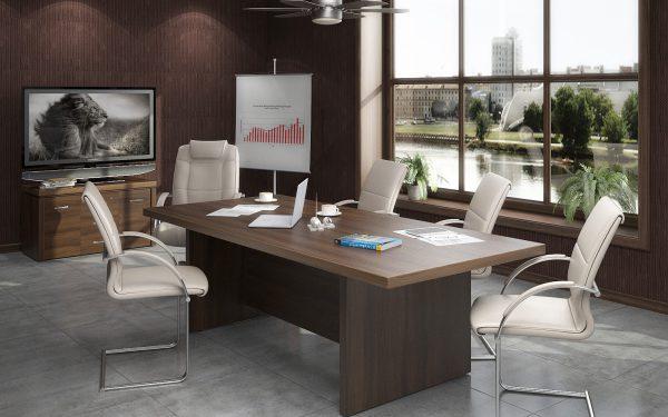 офисный стол на заказ в кабинет фото