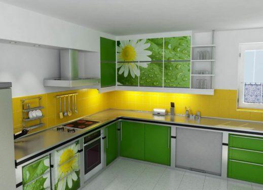 Классическая зеленая кухня фото