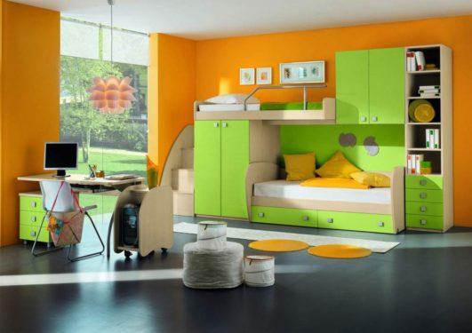 зеленая мебель в детскую комнату фото