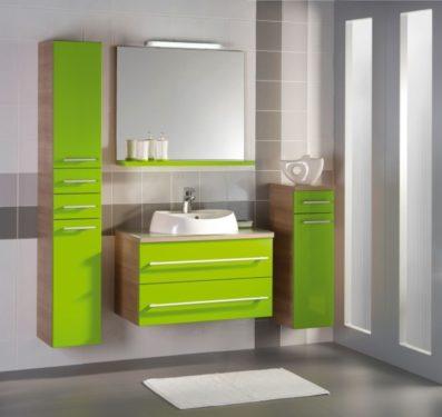 зеленая ванная мебель фото