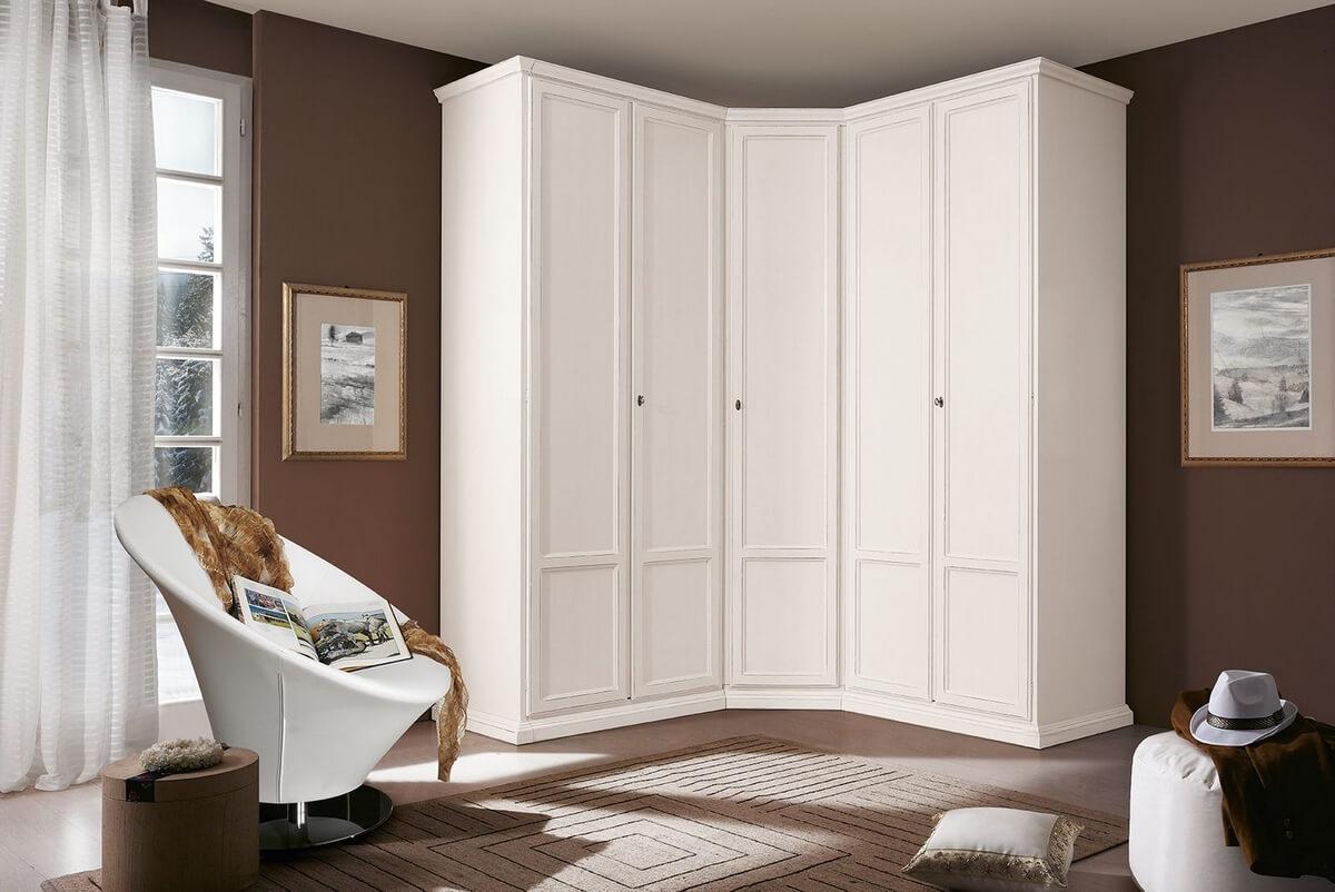 угловой шкаф с дверьми распашными