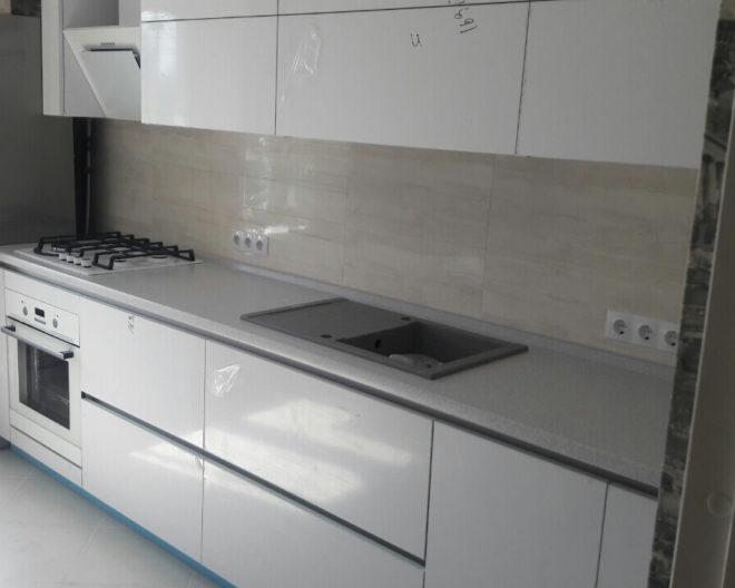 Белый кухонный гарнитур Саманта фото заказа № 179
