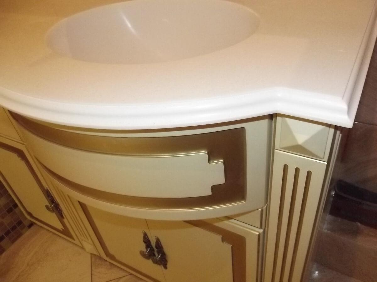 белая мебель в ванную фото