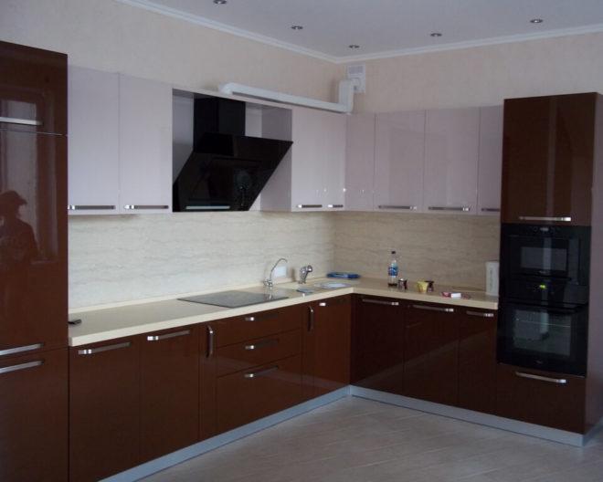 Бело-коричневая кухня КАМИЛА фото заказа № 171