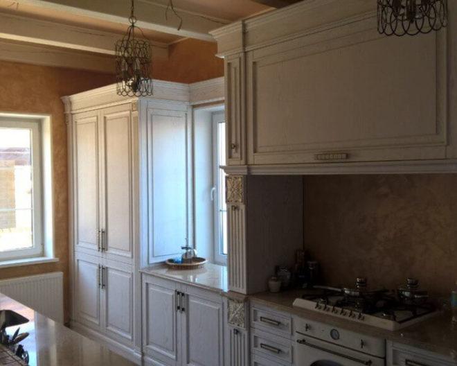 Кухня из натурального дерева Lion фото заказа № 163