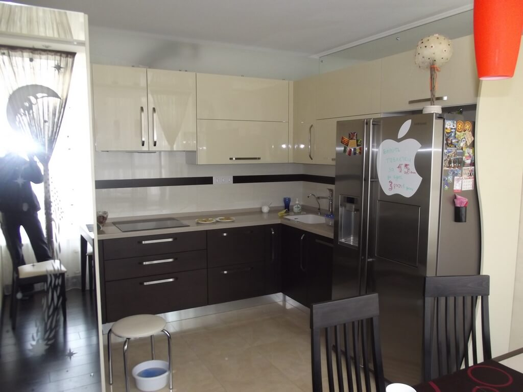 фото кухни кофейного цвета