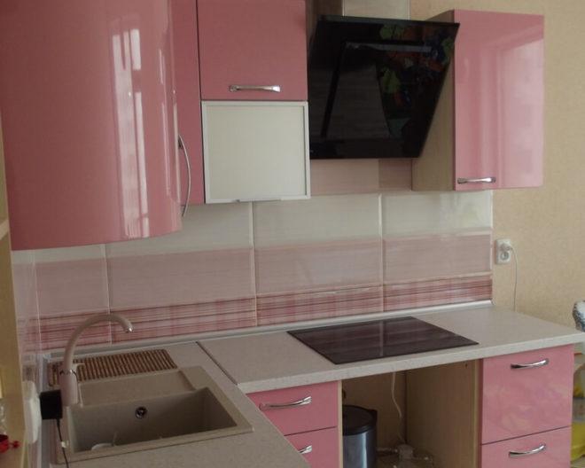 Розовая кухня Романтика фото заказа № 152