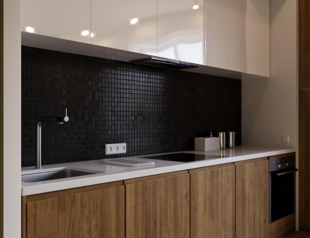 комбинированная кухня фото