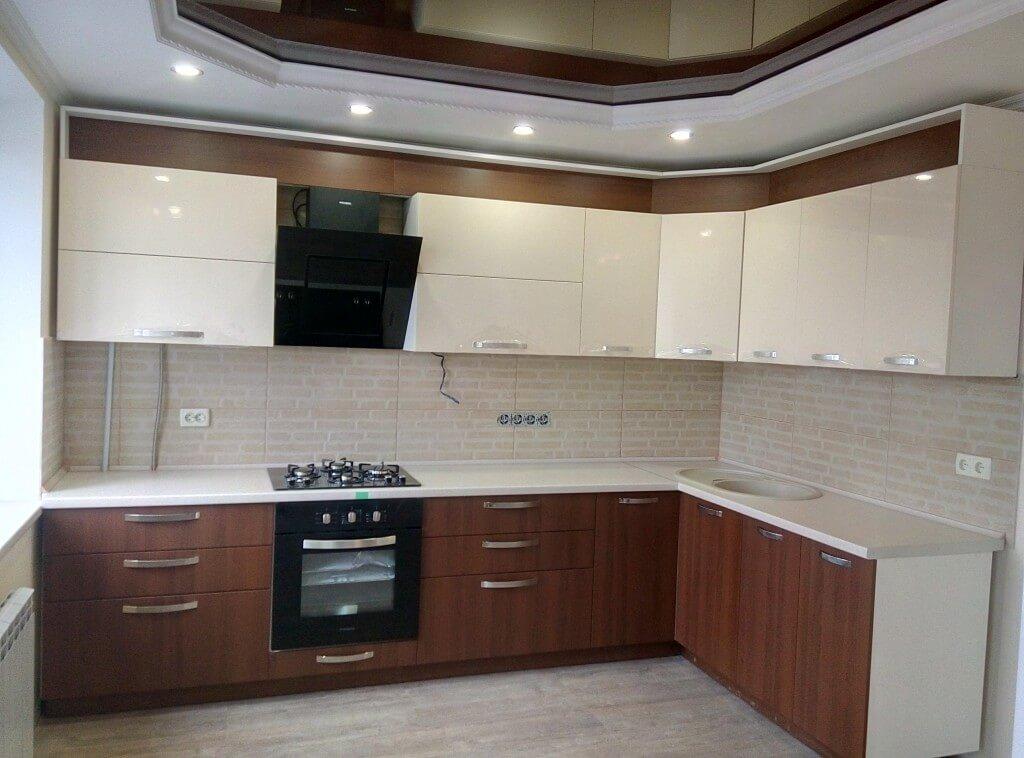 комбинированный кухонный гарнитур фото