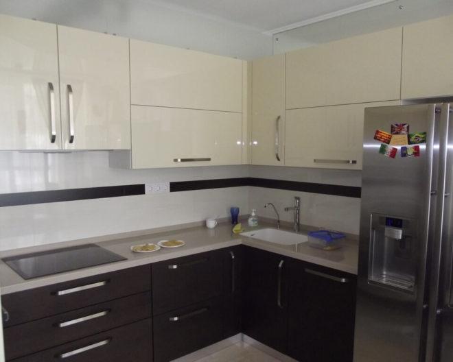 Комбинированная кухня КОФЕ С МОЛОКОМ фото заказа № 199