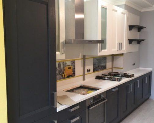 Графитовая кухня Августа фото заказа № 128
