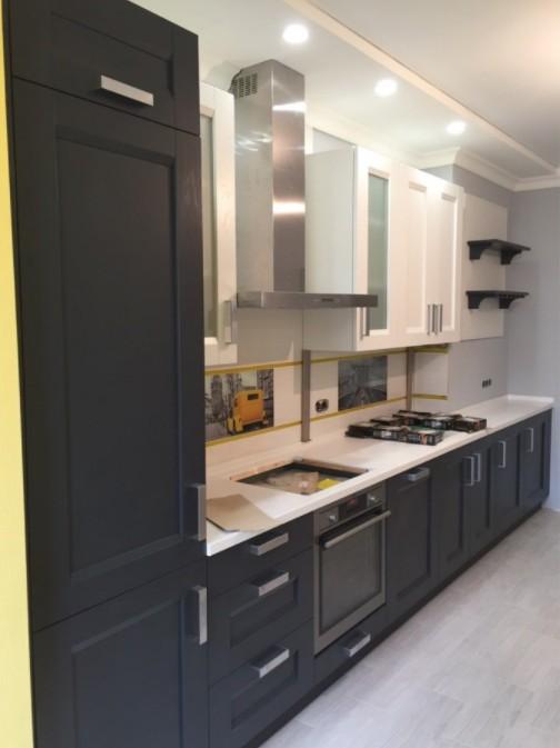 кухня цвета графит фото
