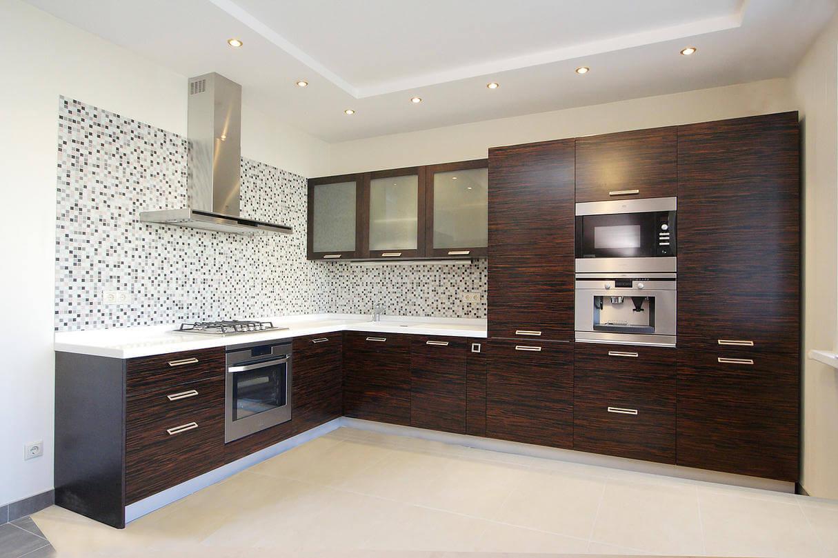 шпонированная кухня фото