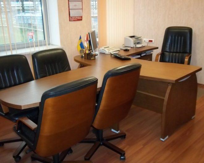 Шпонированная мебель в офис фото заказа № 204
