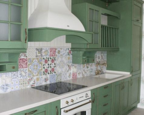 Зеленая кухня Прованс фото заказа № 148