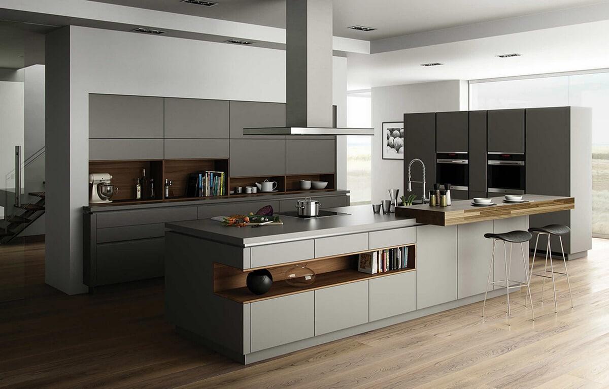 дизайн кухни в стиле индастриал фотография
