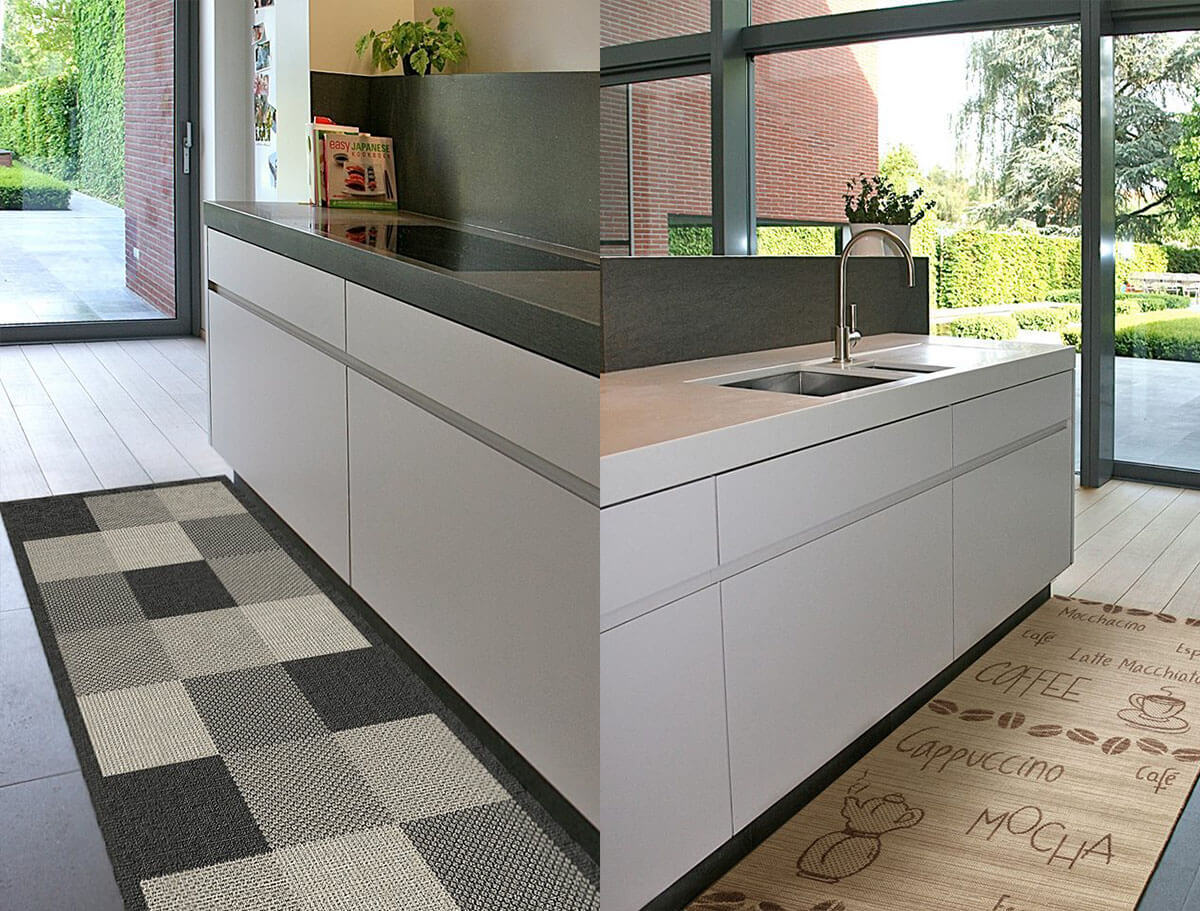 безворсовые ковры на кухню фото
