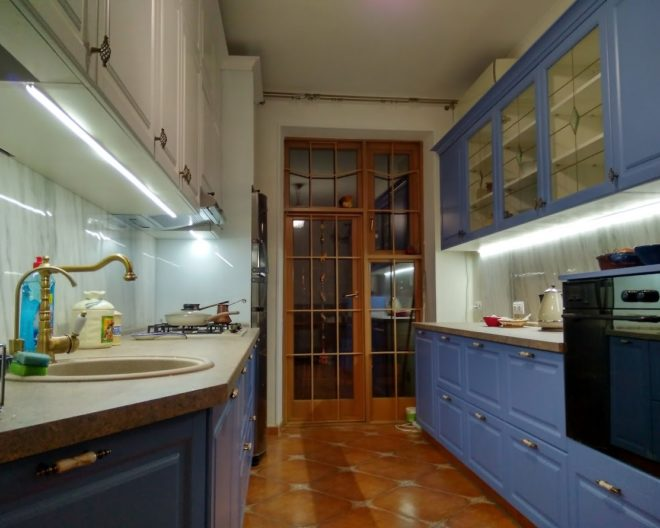 Синяя кухня Marin фото заказа № 312