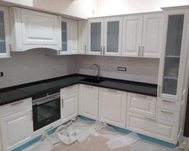 Белая кухня Avraam фото заказа № 401