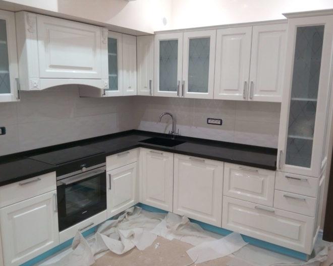 Светлая кухня Апельсин фото заказа № 207