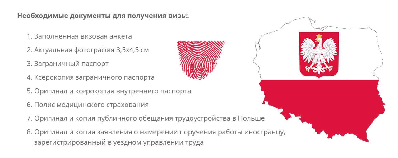 какие документы нужны для польской визы фото