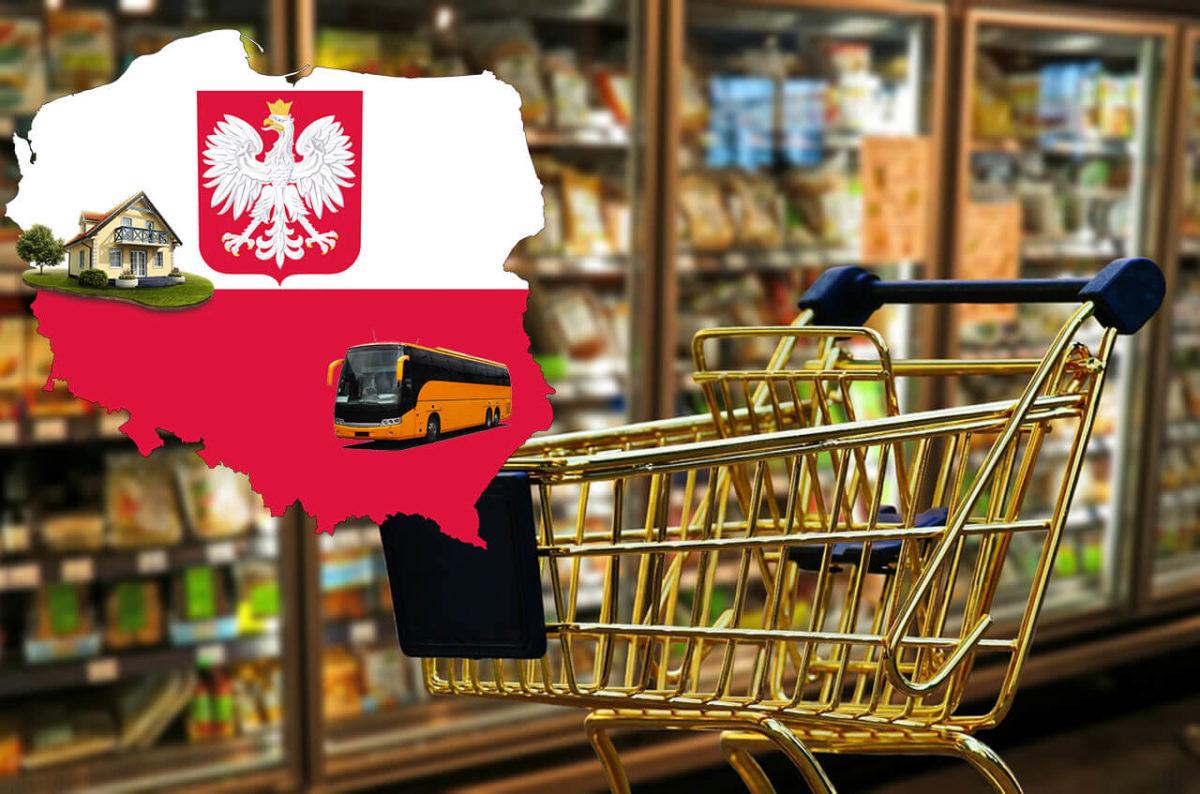 Польша – цены на еду, транспорт и жилье в 2021 году